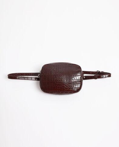 Borsa a cintura coccodrillo granata