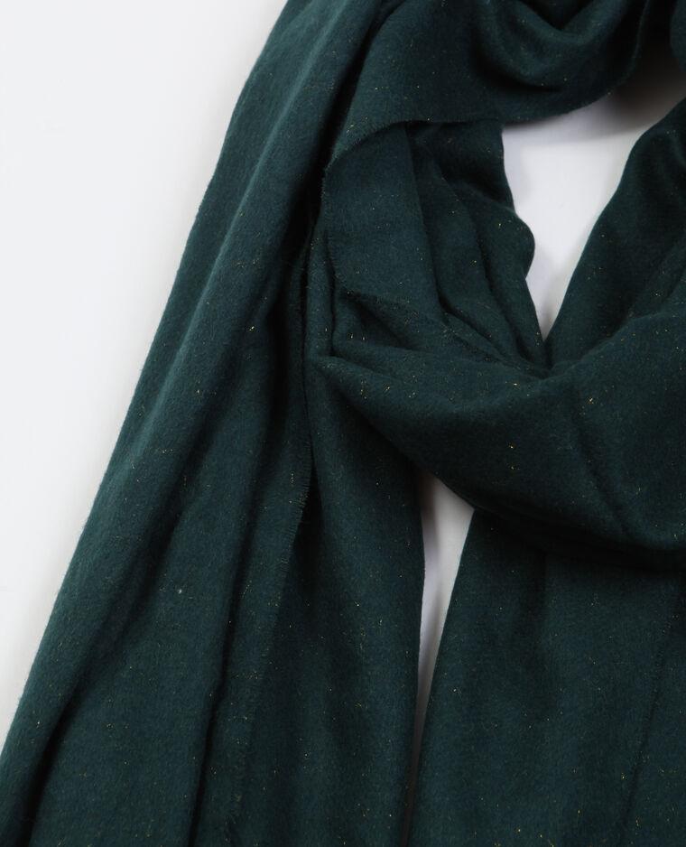 Sciarpa con frange verde