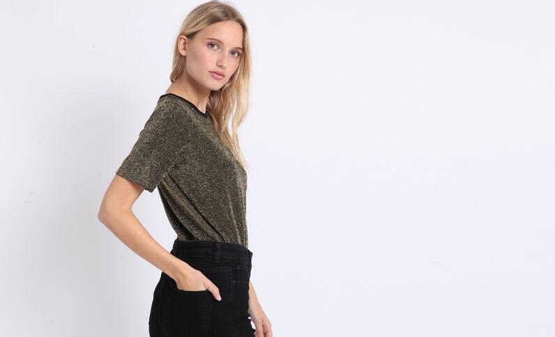 T-shirt glitter nero