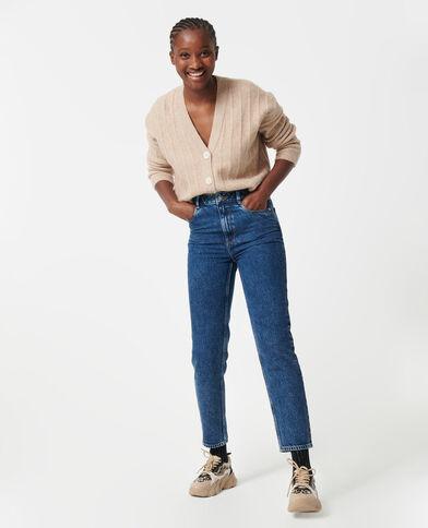 Jeans a vita alta blu denim - Pimkie