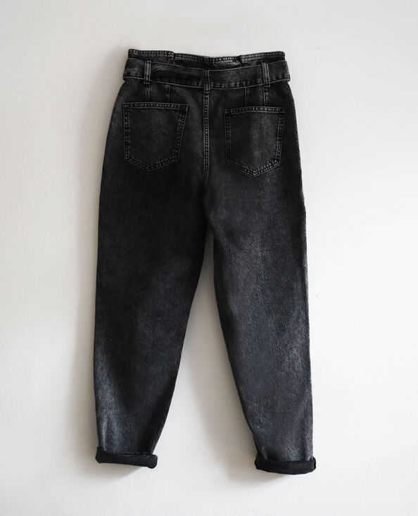 Jeans mom acid wash grigio