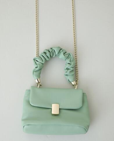 Mini borsa a mano verde acqua