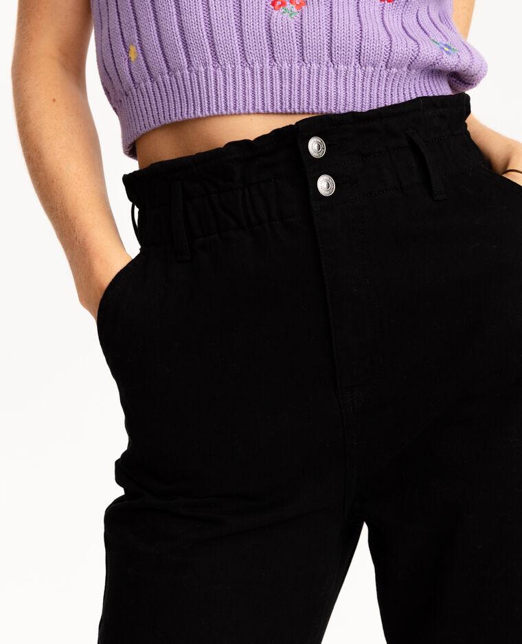 Jeans paperbag nero