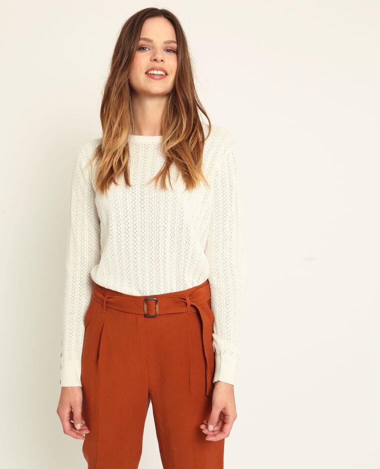 Pull maglia traforata bianco