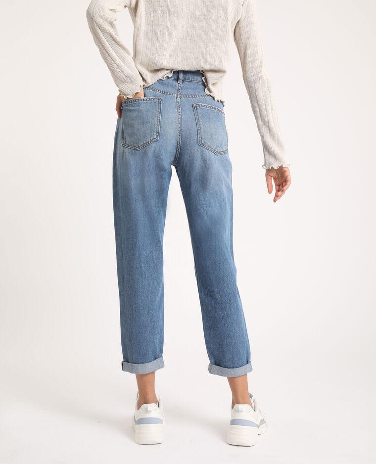 Jeans mom high waist blu stone