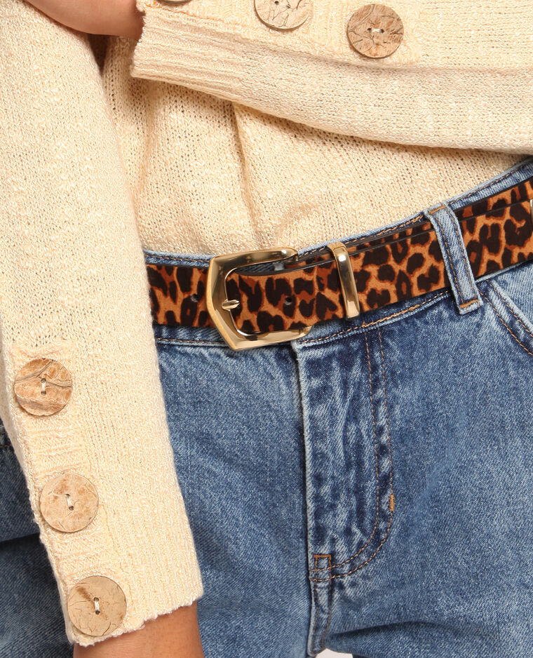 Cintura leopardata beige