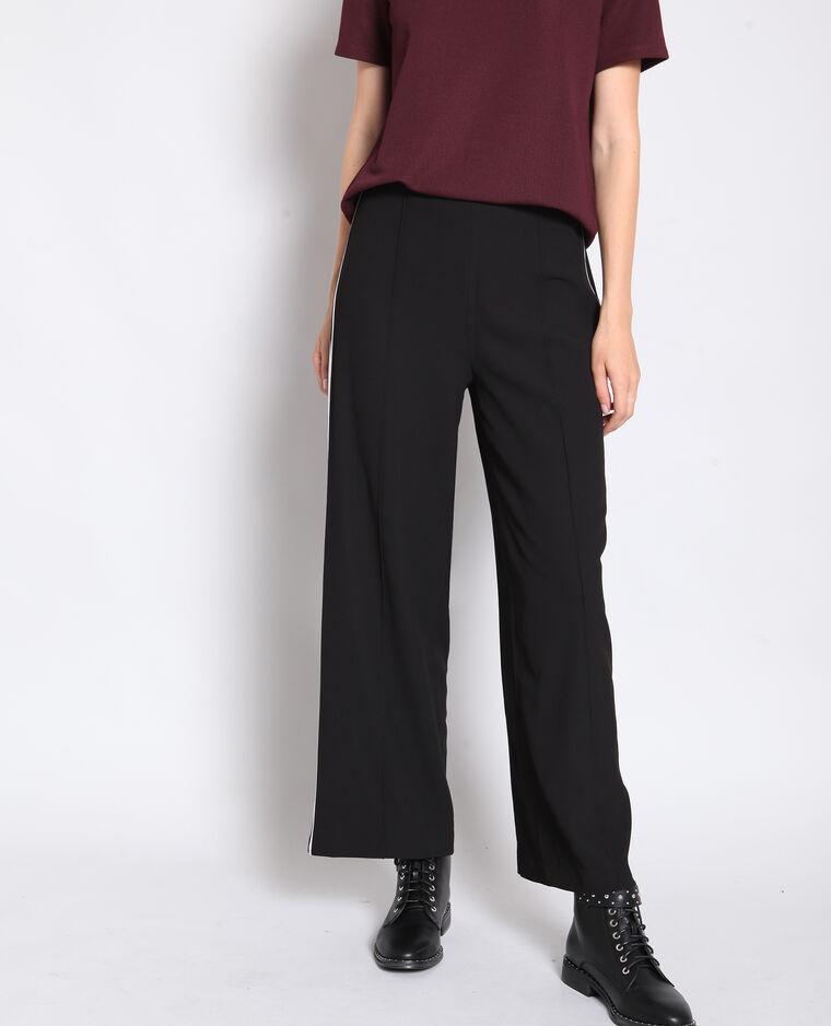 Pantalone Largo Con Fasce Nero 140696899a08 Pimkie