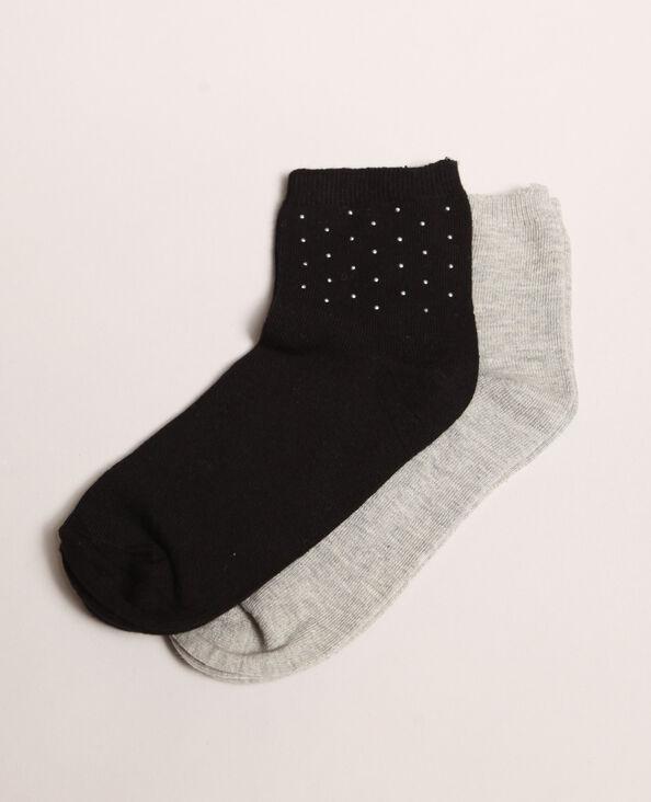 Lotto da 2 paia di calze nero
