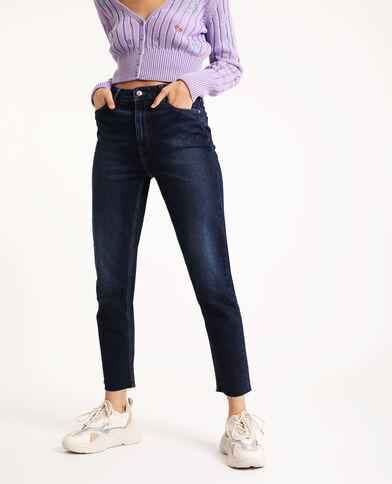 Jeans straight blu grezzo