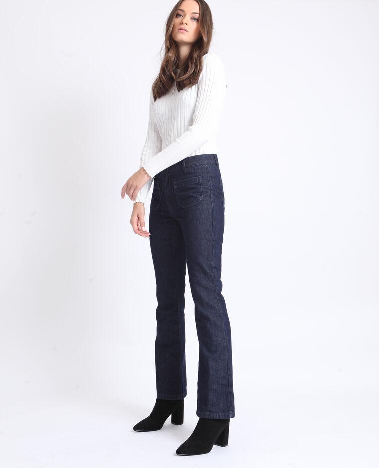 Jeans flare blu scuro