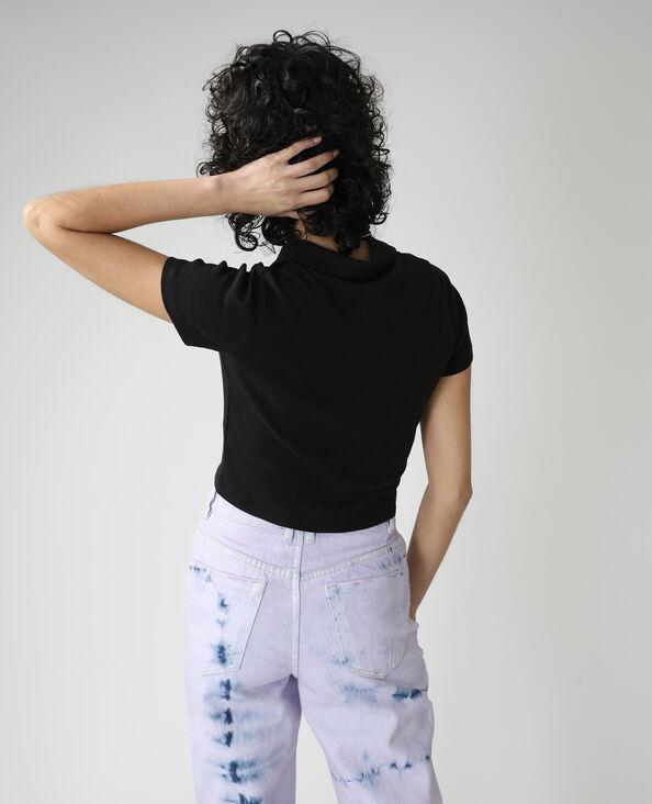 Polo con zip nero - Pimkie