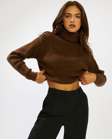 Pull cropped marrone - Pimkie