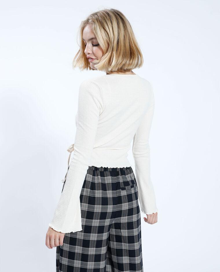 T-shirt incrociata beige corda - Pimkie