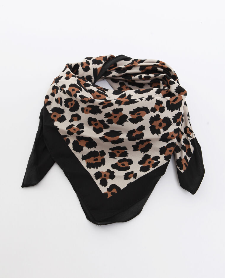 Foulard leopardato écru