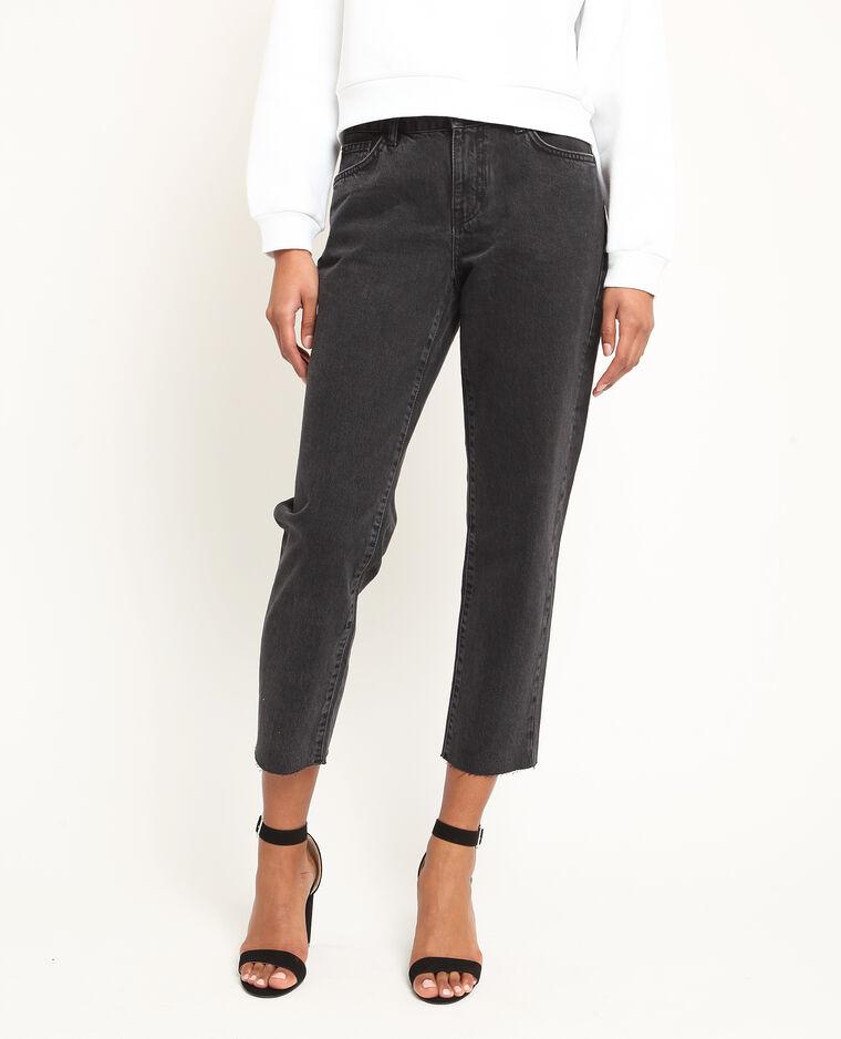 Jeans dritto mid waist nero