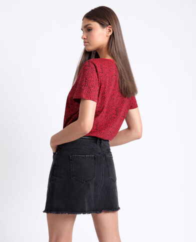 T-shirt con stampa rosso