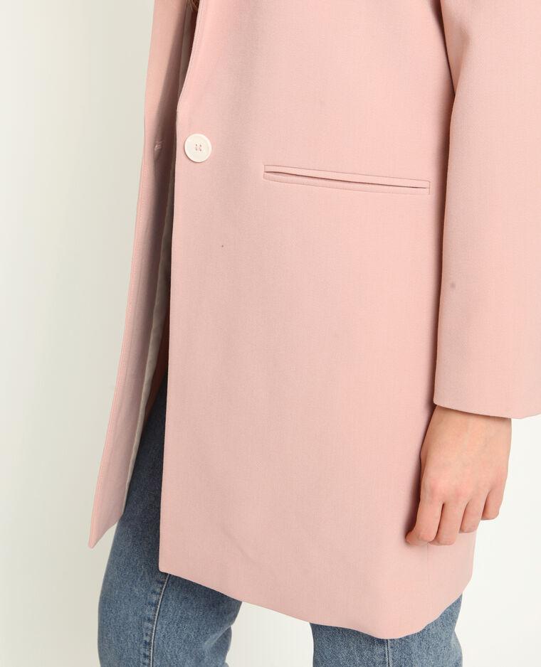 Cappotto morbido rosa