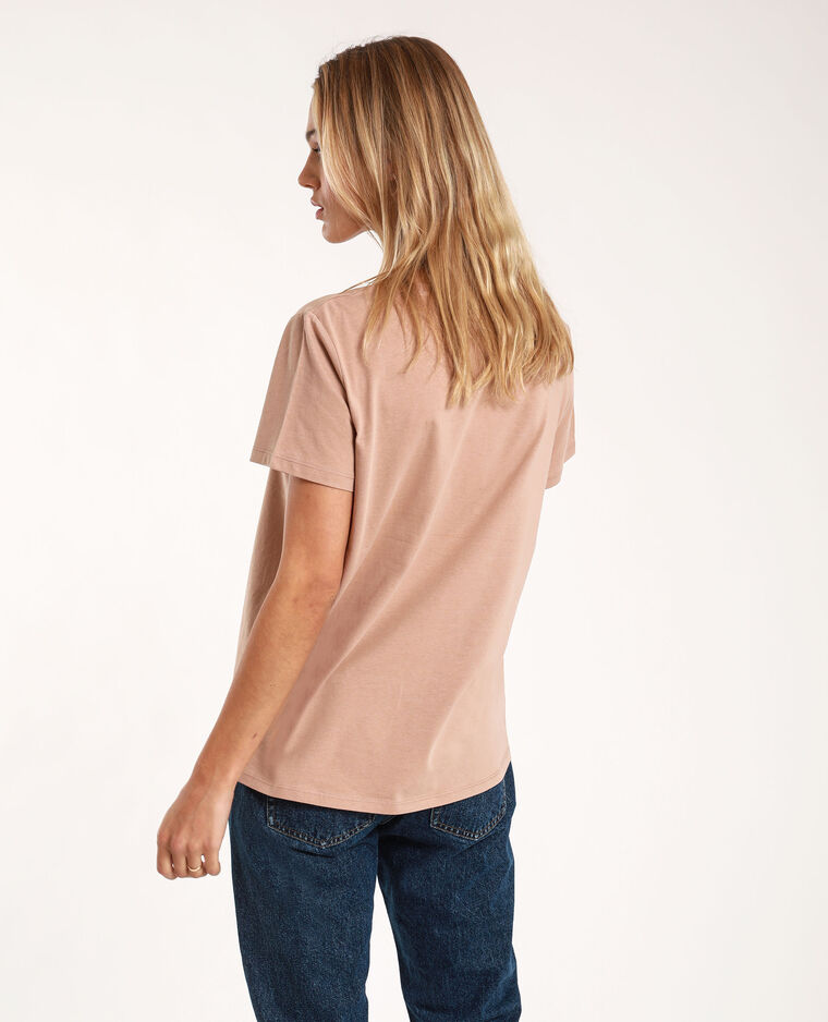 T-shirt con messaggio cammello