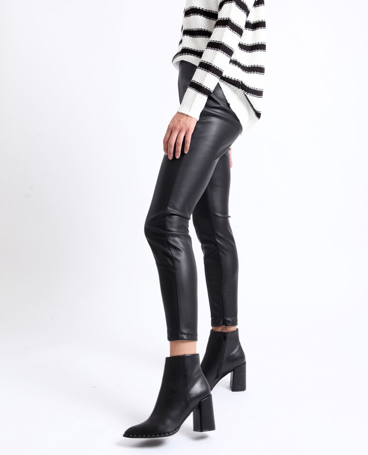 Pantalone in similpelle nero