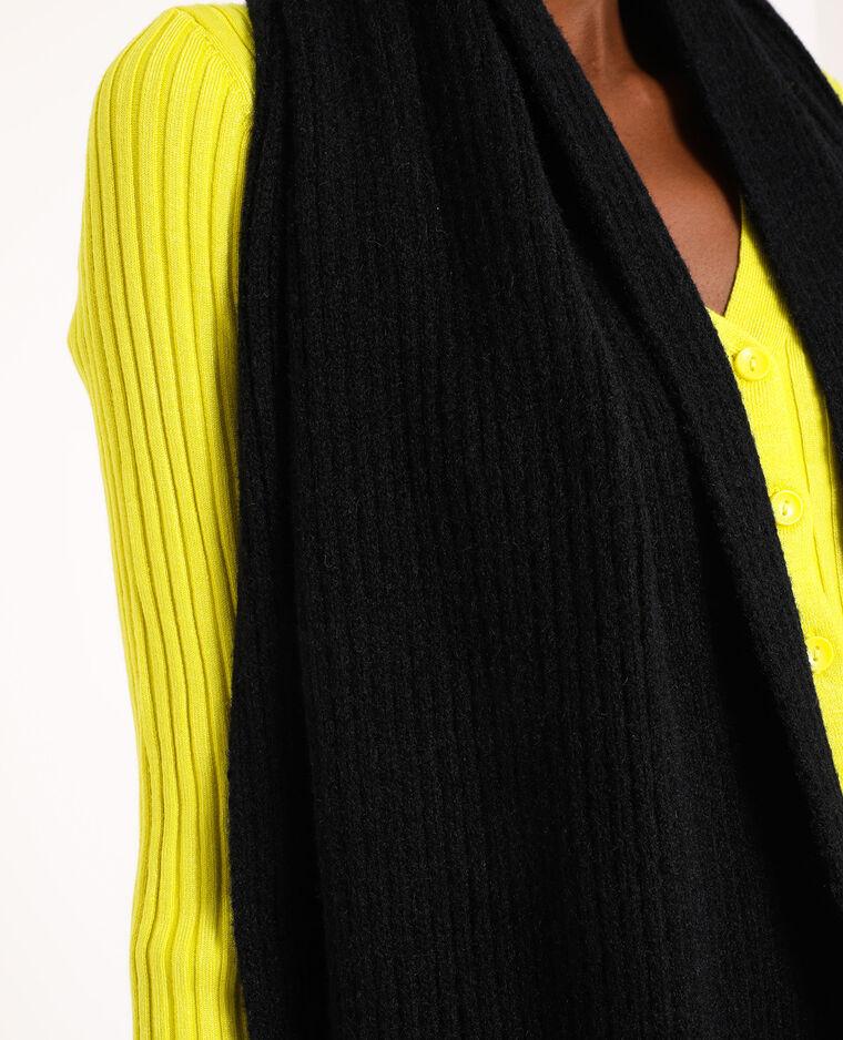 Sciarpa in maglia a coste. nero - Pimkie