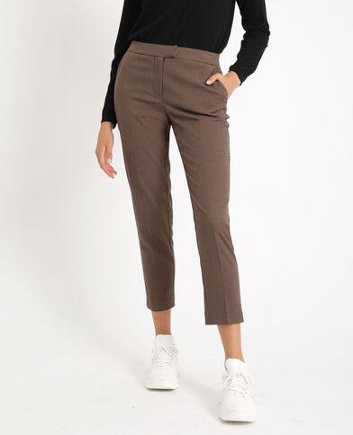 Pantalone city con occhielli nero + marrone
