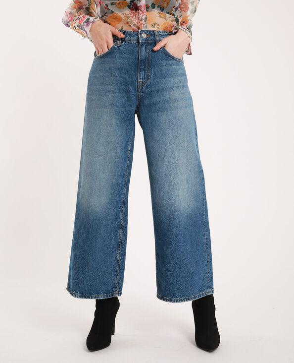 Jeans con gamba larga blu grezzo