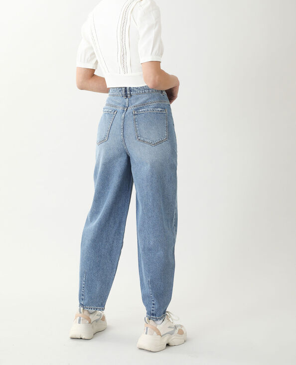 Jeans slouchy high waist blu denim