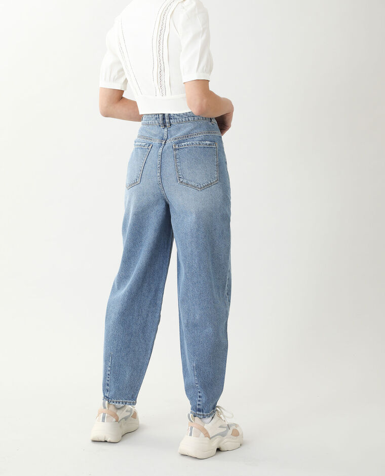 Jeans slouchy high waist blu denim