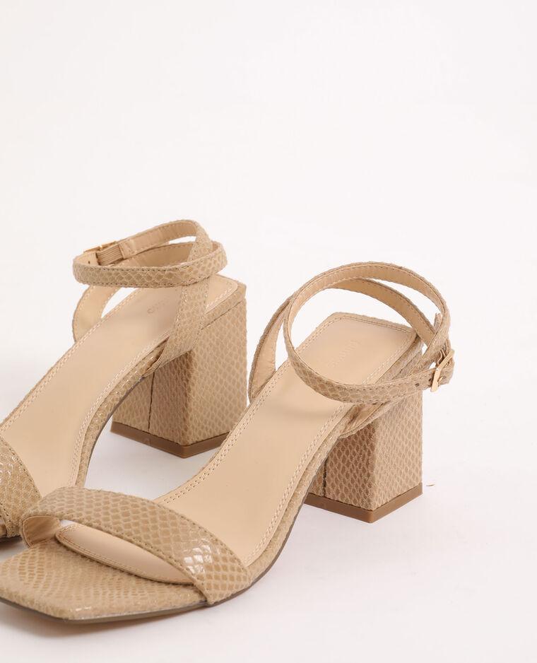 Sandali effetto coccodrillo beige - Pimkie