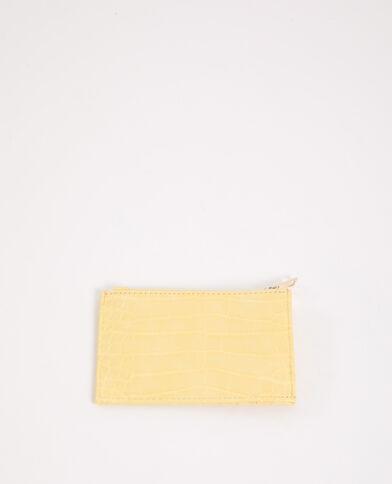 Portacarte giallo