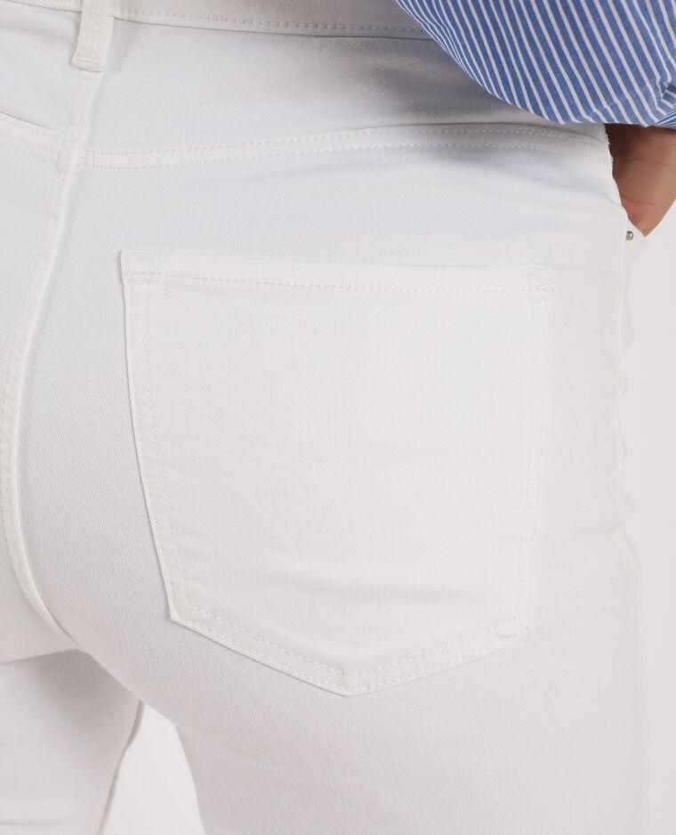 Jeans skinny a vita alta bianco