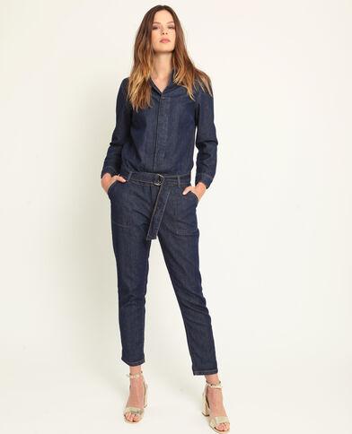 Tuta in jeans blu