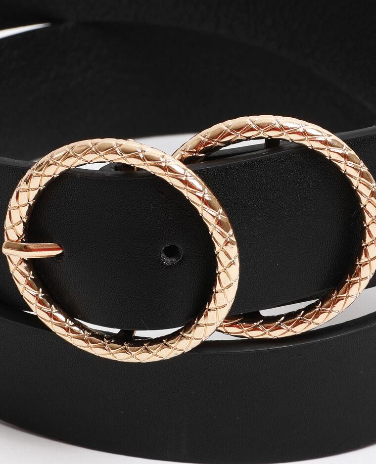 Cintura doppia fibbia nero