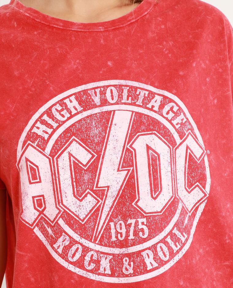 T-shirt AC/DC rosso