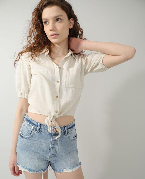 Camicia annodata beige - Pimkie