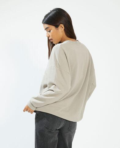 Felpa oversize marrone - Pimkie