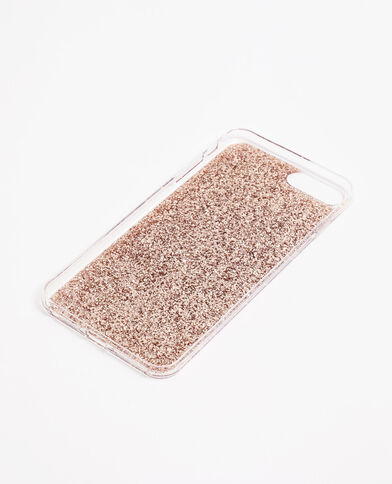 Custodia iPhone con paillettes dorato
