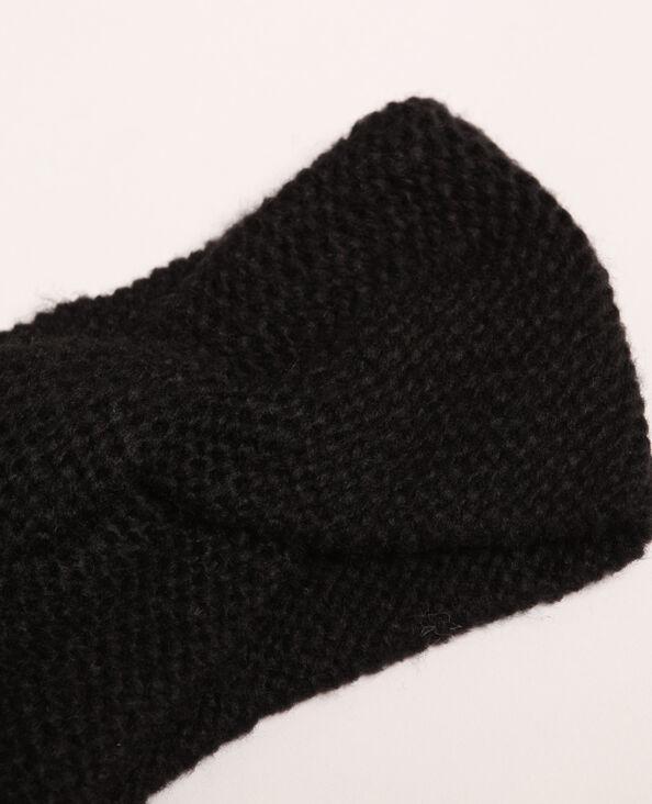 Headband intrecciata nero