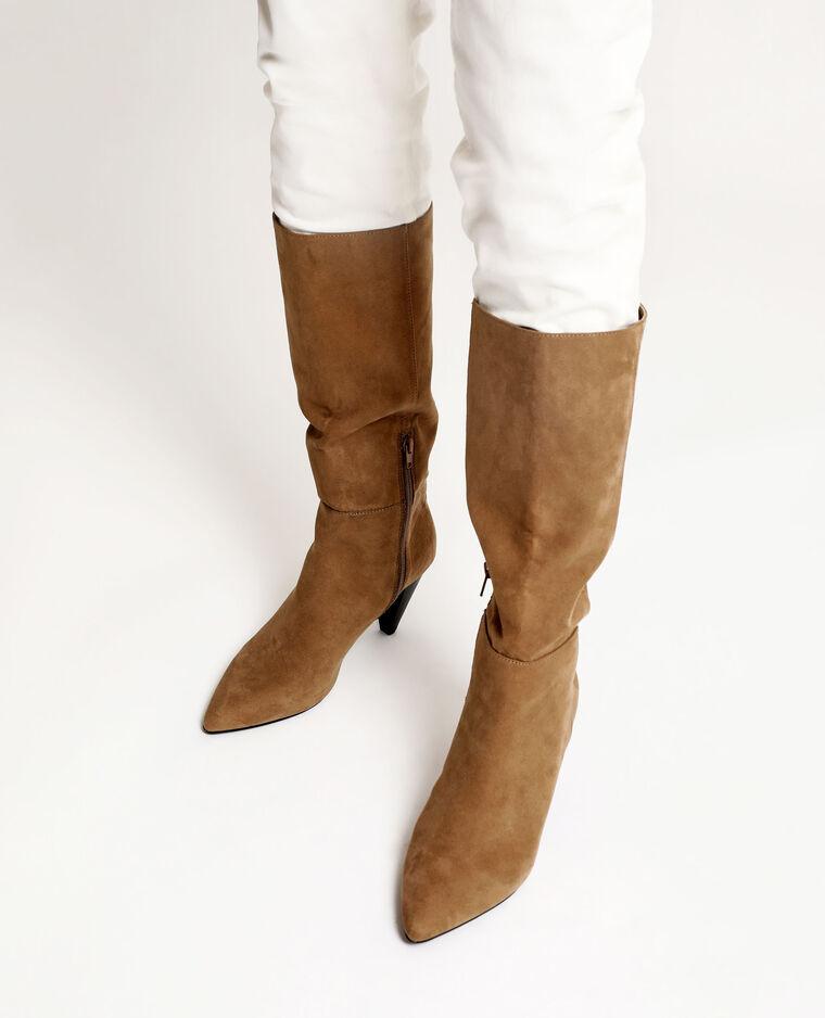 Stivali a punta marrone