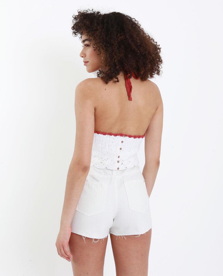 Short in jeans high waist bianco