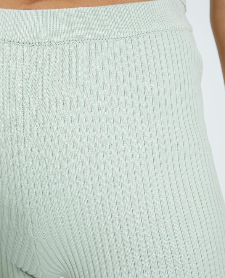 Pantaloncini corti in stile ciclista in maglia a coste verde - Pimkie