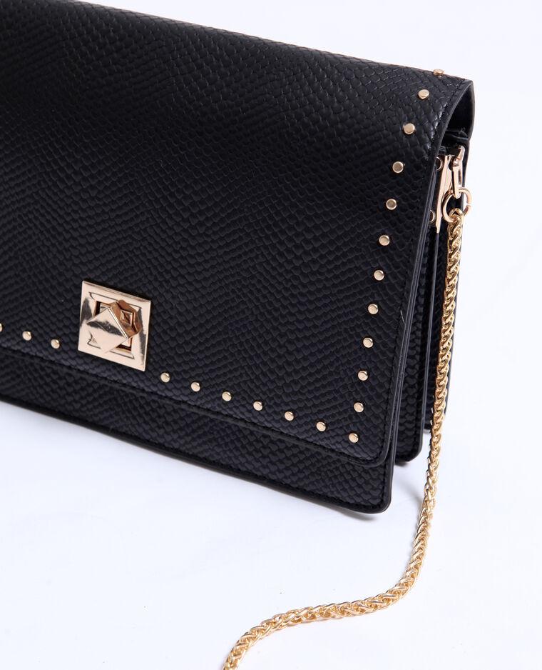 Piccola borsa con borchie nero