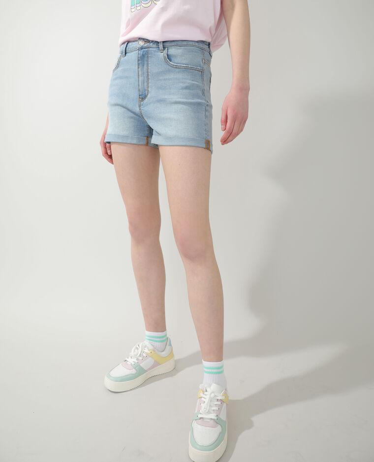 Short di jeans blu delavato - Pimkie