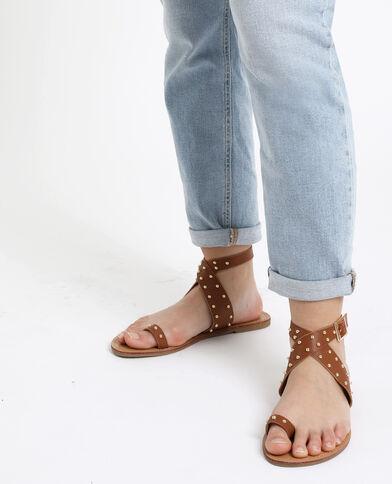Sandali bassi marrone