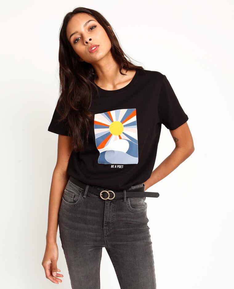 T-shirt stampata nero