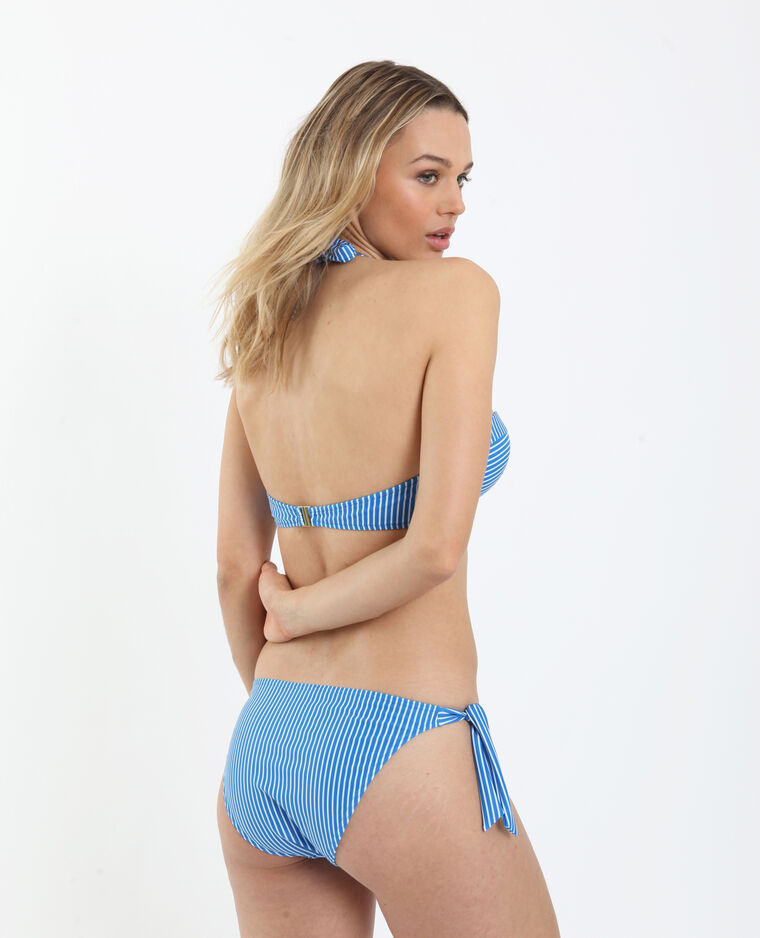 Pezzo sotto di bikini a righe blu