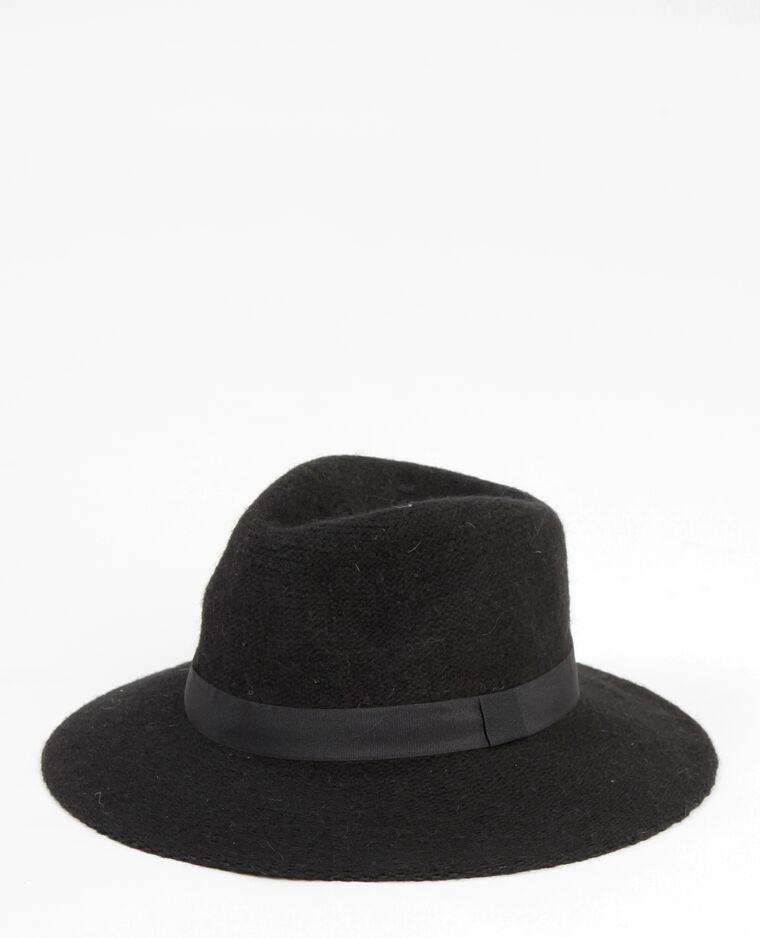 Cappello fedora tricoté nero - 947103899A08  c8423c183a60