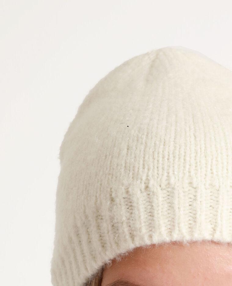 Berretto morbido bianco sporco