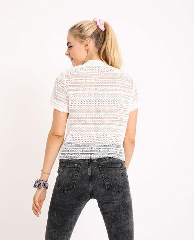 T-shirt traforata bianco sporco - Pimkie