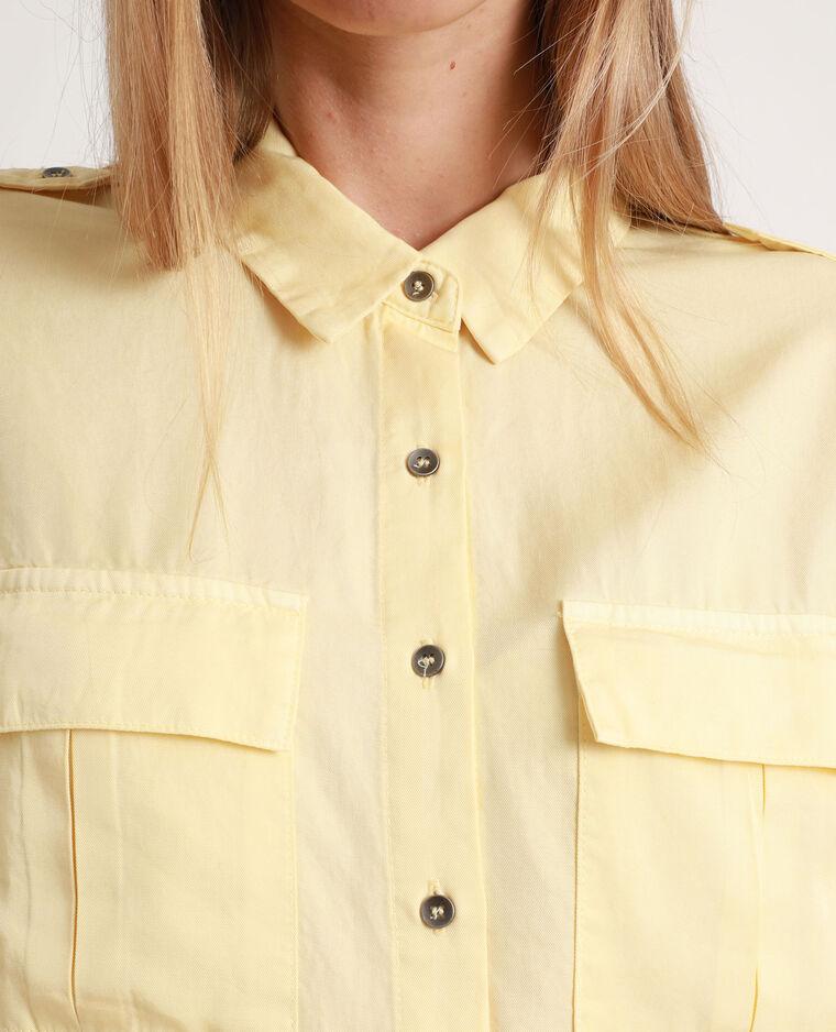 Camicia morbida giallo